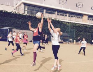 awesome fundraisers playing netball